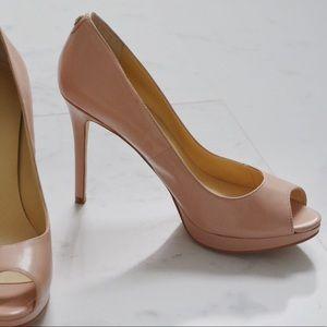 Brand New, Ivanka Trump- Nude Peep Toe Pumps
